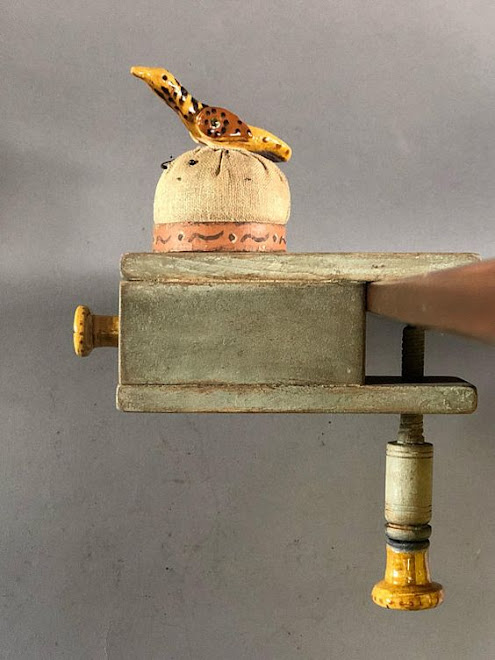 Another ONE DRAWER SEWING CLAMP WITH GREG SHOONER REDWARE PIECES