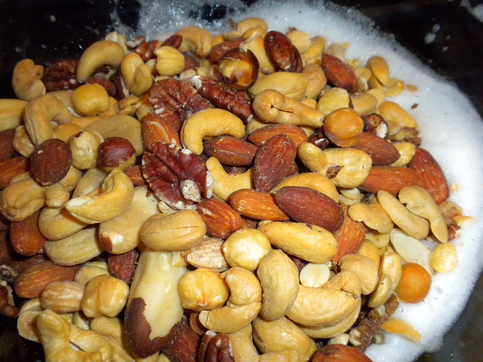 Mixed nuts added to egg whites by Substance of Living