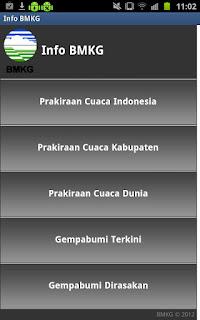 Info Gempa dan Cuaca