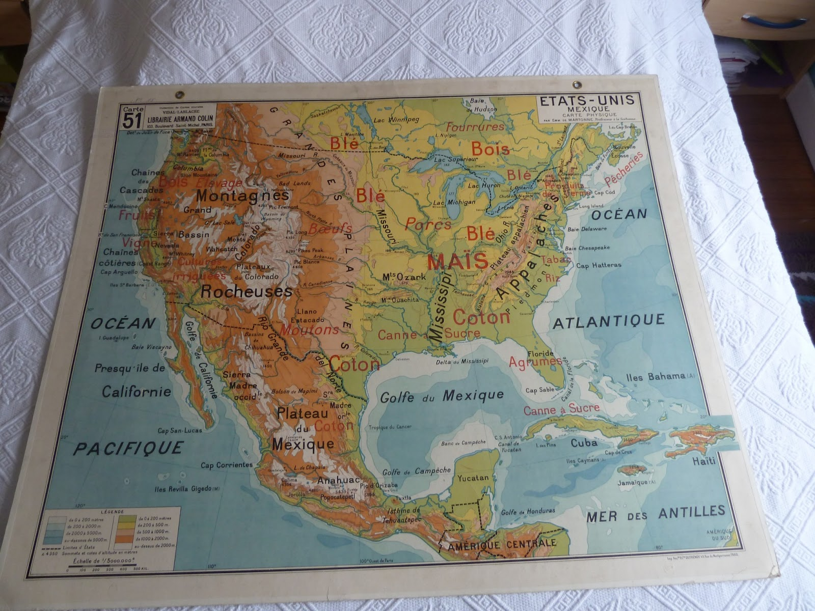 Vintage French Posters Botany Animals Anatomy Old World Maps From - Us map old time