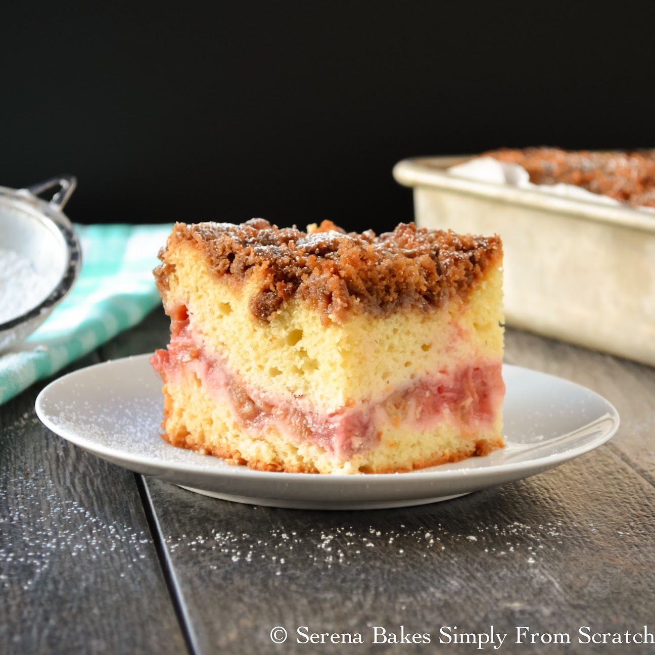 Strawberry Rhubarb Coffee Cake is the perfect treat for brunch or dessert.