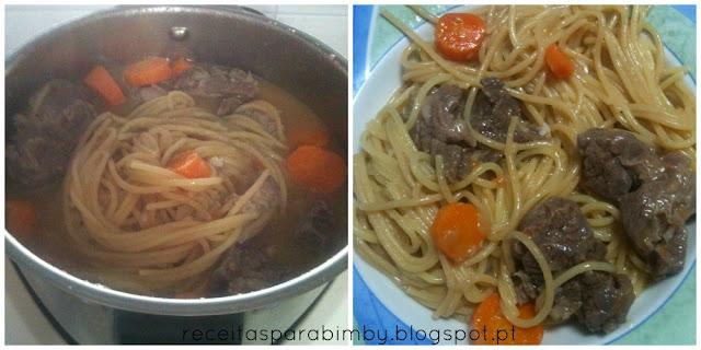 Carne Guisada com Esparguete, Bimby