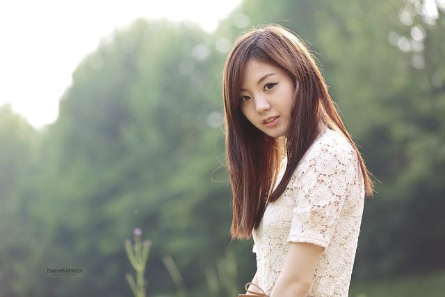 2 Chae Eun - Lovely Outdoor - very cute asian girl - girlcute4u.blogspot.com