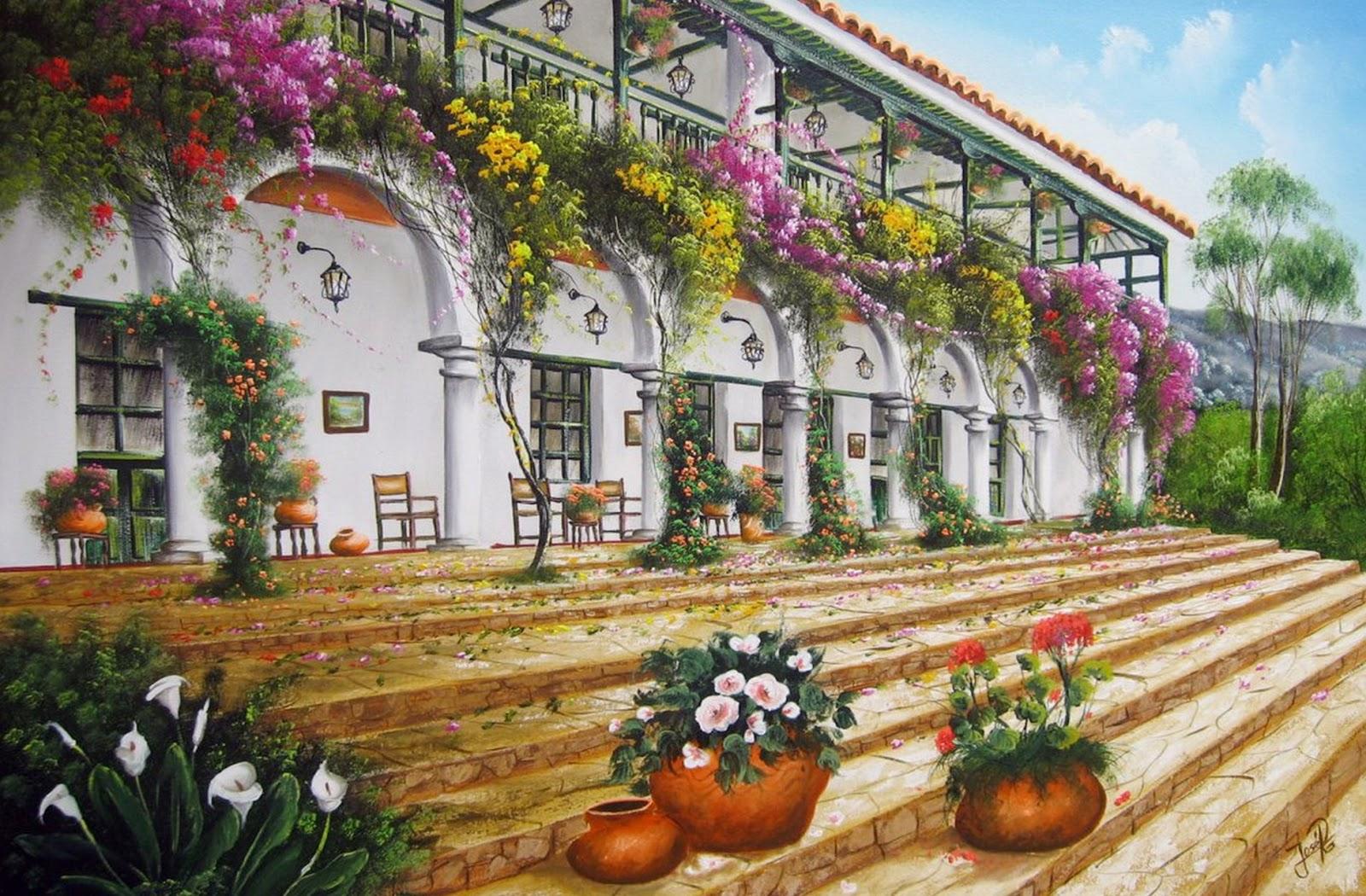 Cuadros modernos pinturas y dibujos cuadro de paisaje for Pinturas bonitas para casas