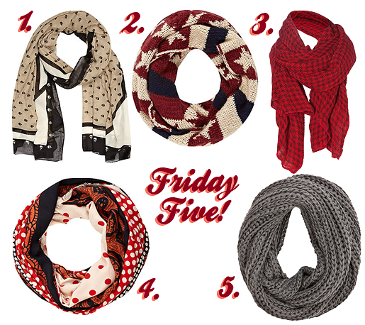 Friday Five: 5 Cute Scarves