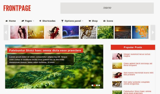 Frontpage Magazine Blogger Template
