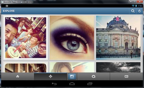 instagram on androVM