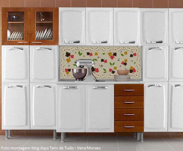 blog Vera Moraes  Decoração  Adesivos Azulejos  Papelaria Personalizada   # Azulejo Cozinha Horizontal