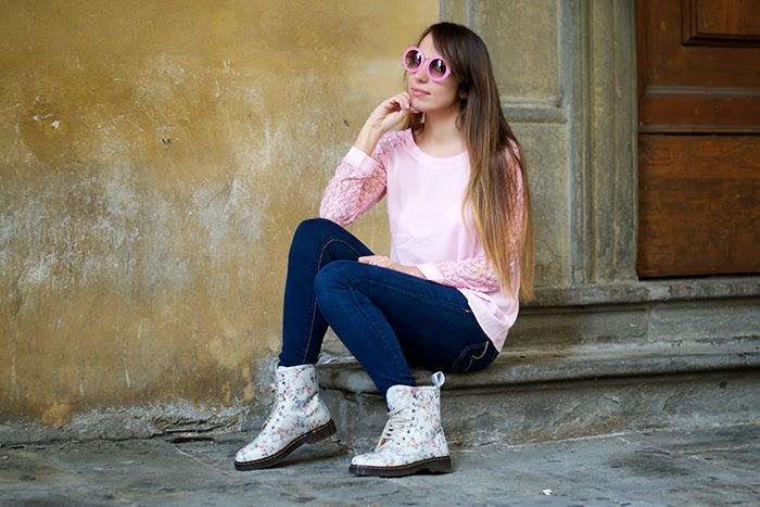 maglia rosa pizzo