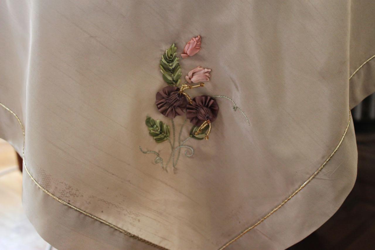 kurdele ile çiçek