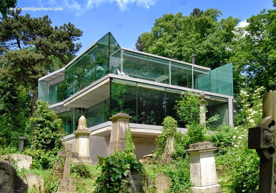 Arquitectura de casas casa contempor nea de concreto y vidrio en londres - Techos de cristal para casas ...