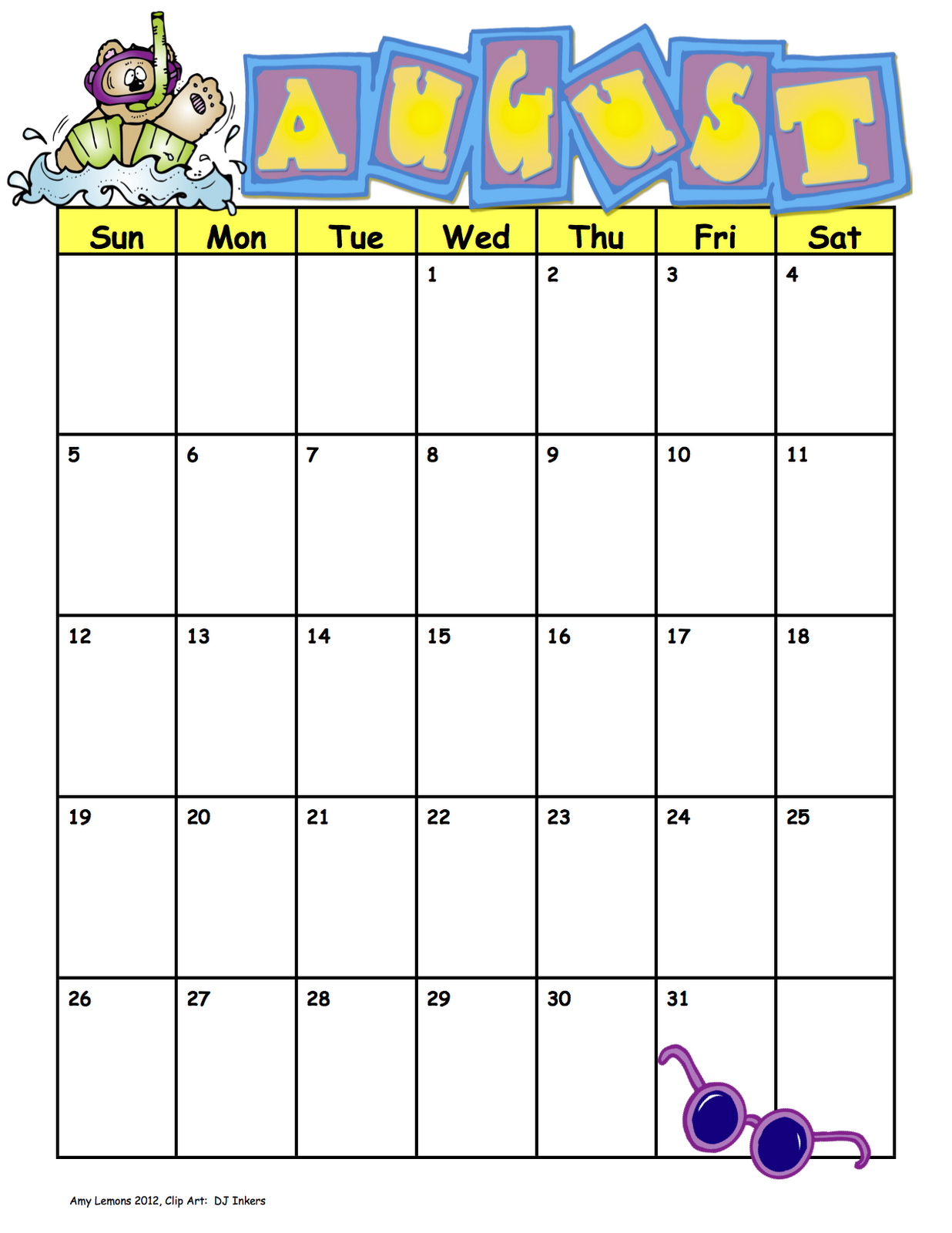"Art Calendar Template : Search results for ""clip art calendar template january"