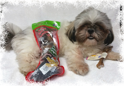 Rascal's First Christmas Starts With Jones Natural Chews! #MakingDogsSmile