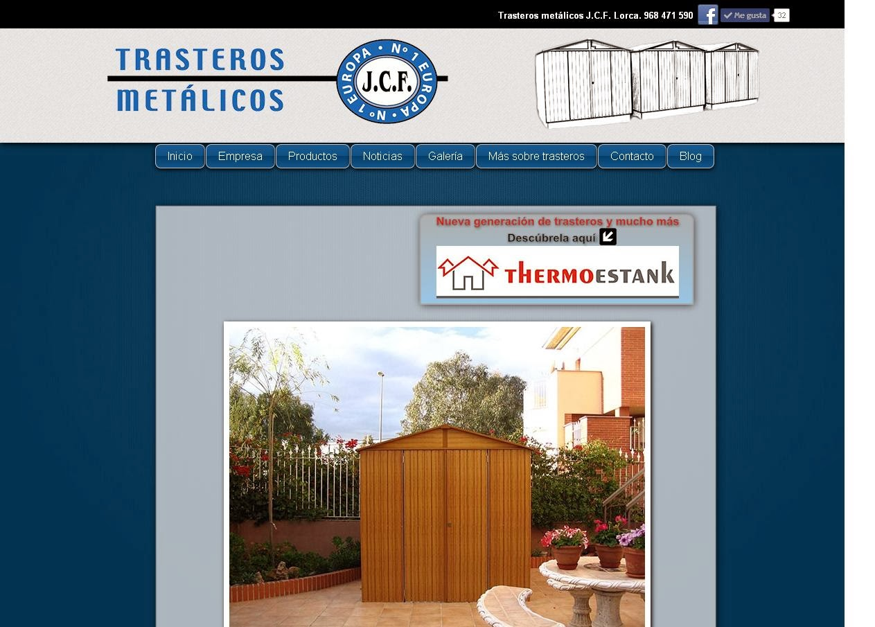 Portada web Trasteros Metálicos JCF