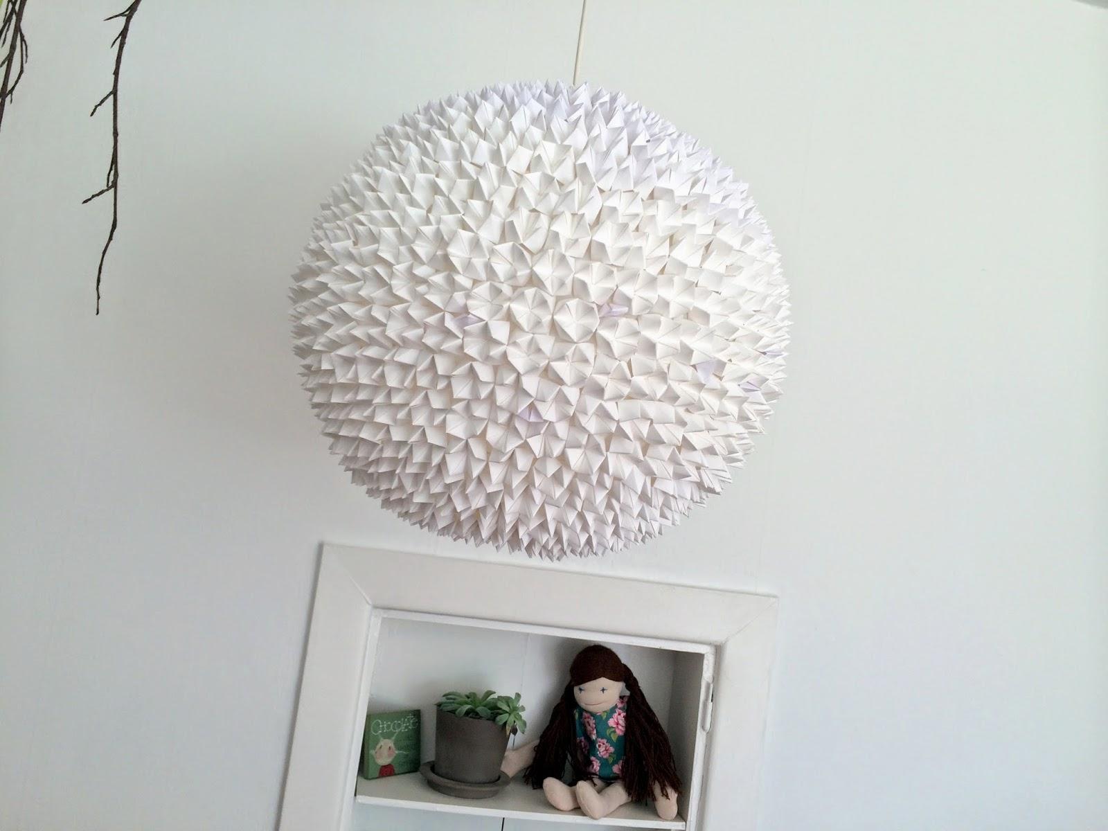 Søndergaard & co: diy origami lampe // diy origami lamp