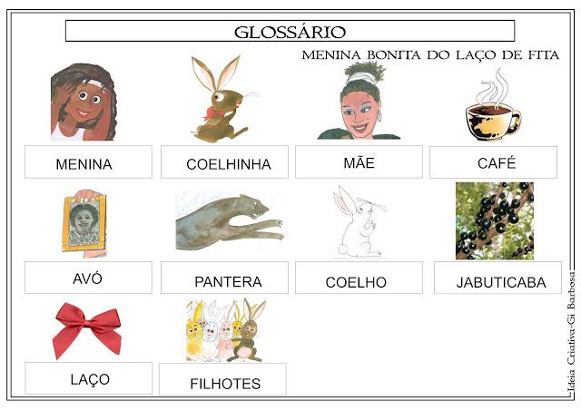 Glossário Alfabetizador Menina Bonita do Laço de Fita