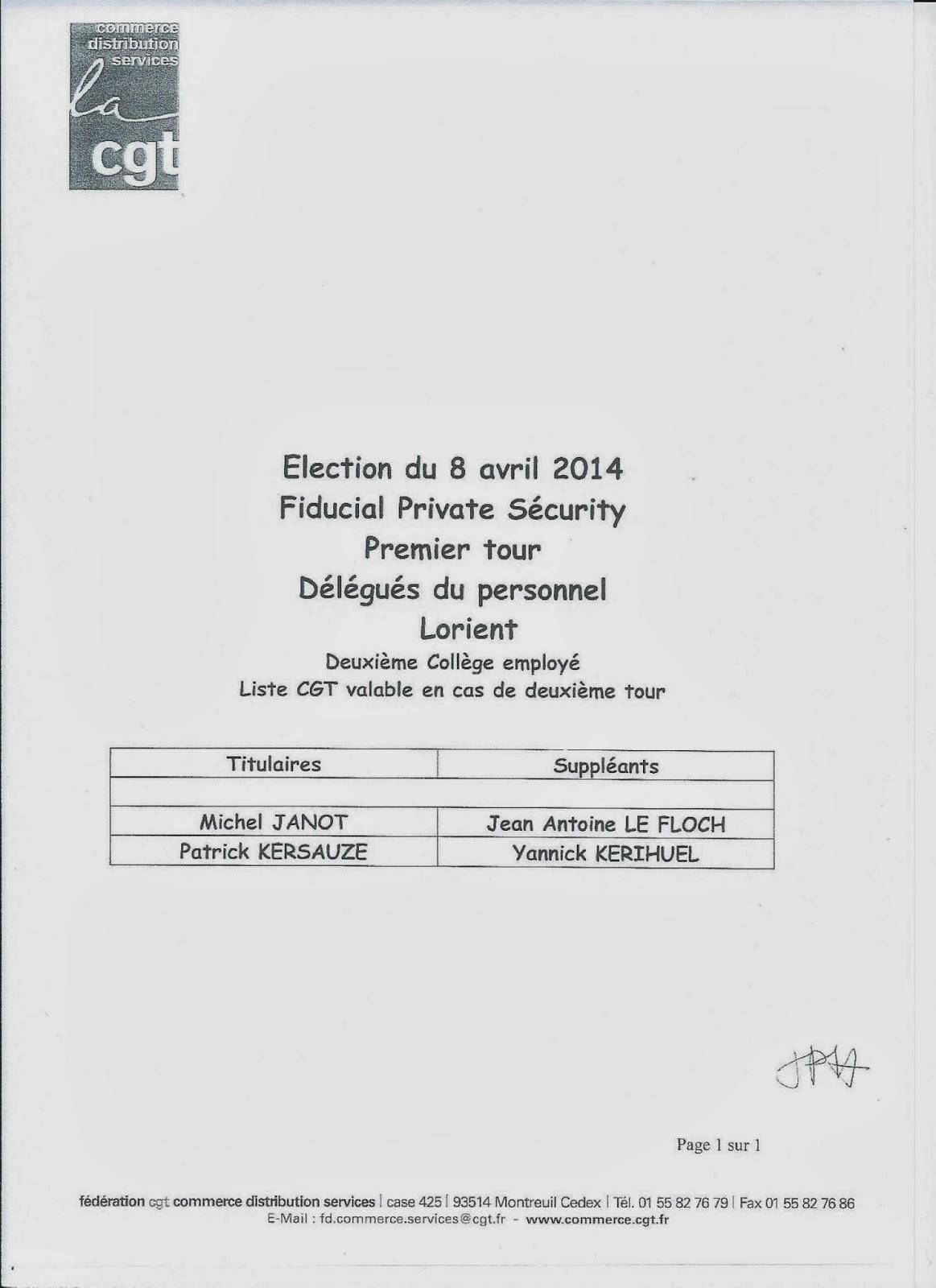 Syndicat Cgt Securite Bretagne Pays De La Loire Elections 08