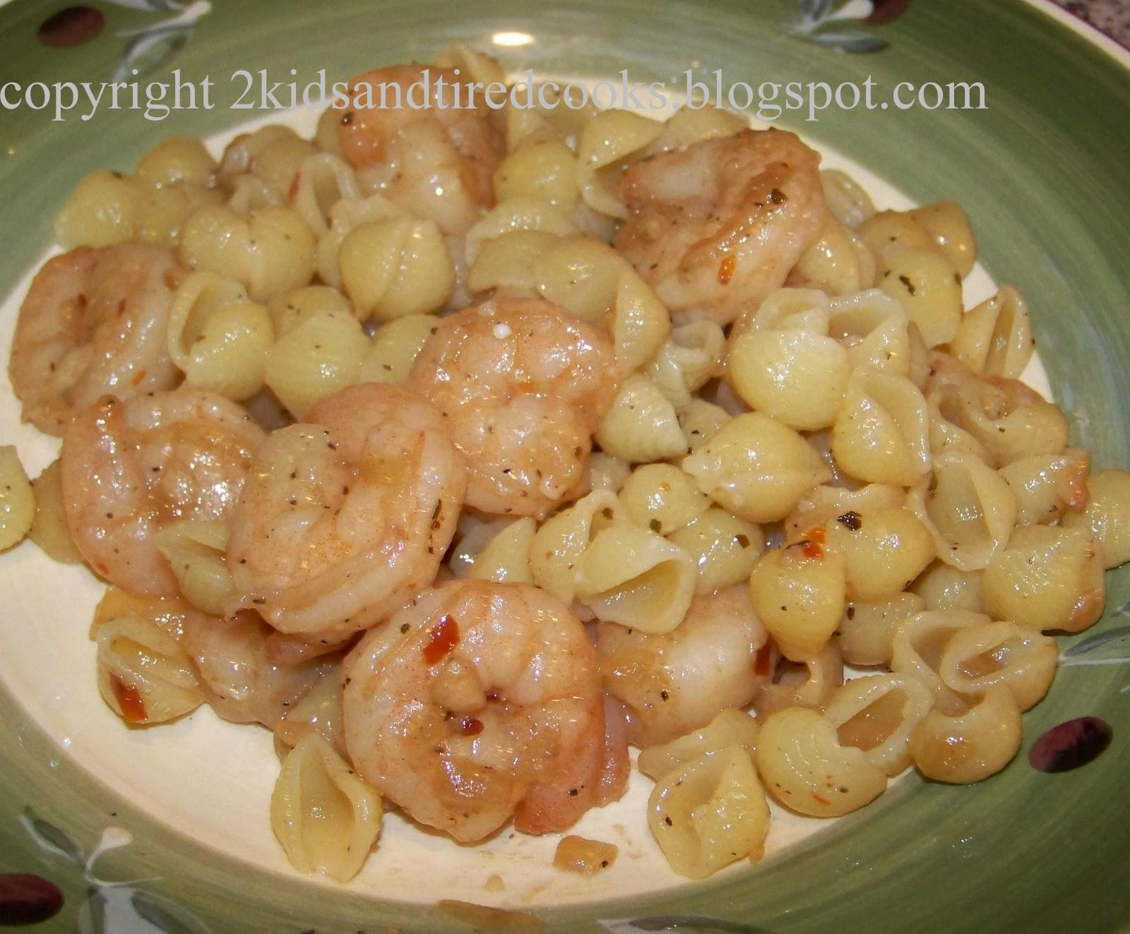 Kids and Tired Cooks: Shrimp Scampi