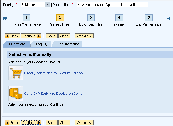 Approving download basket items in SAP