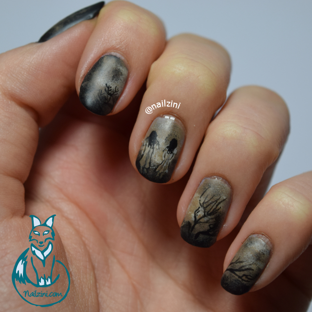 the ring halloween nail art