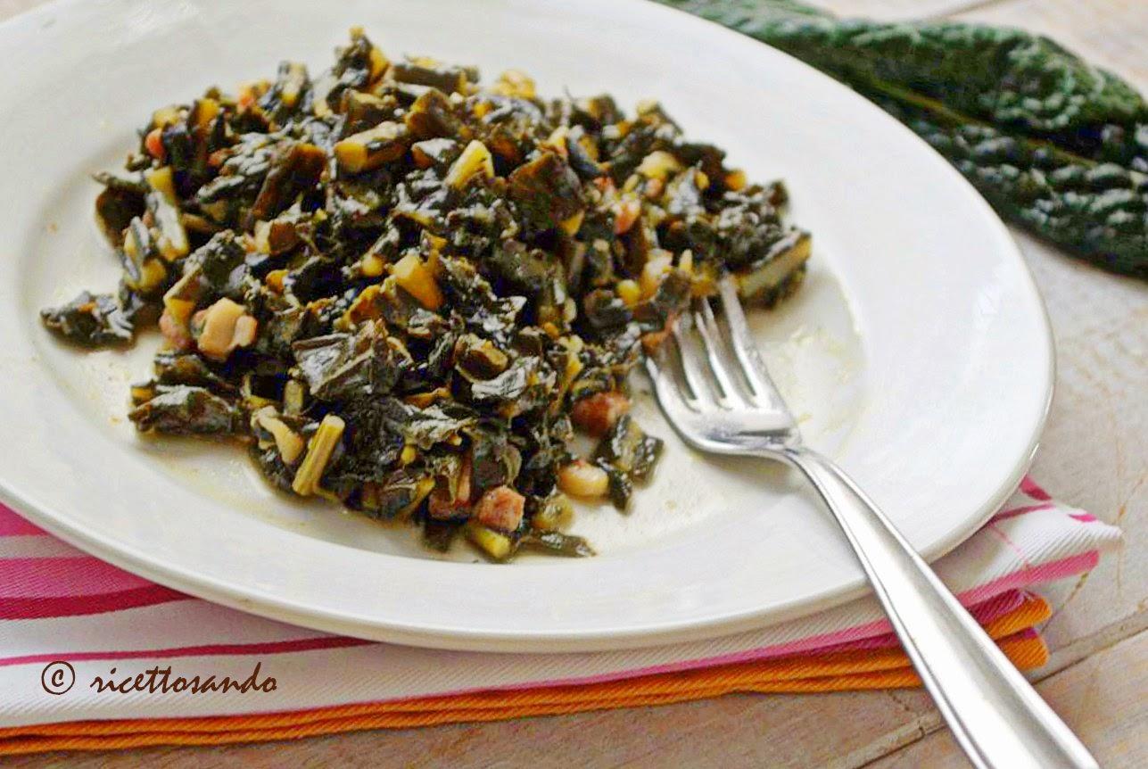 Cavolo nero stufato ricetta di verdura