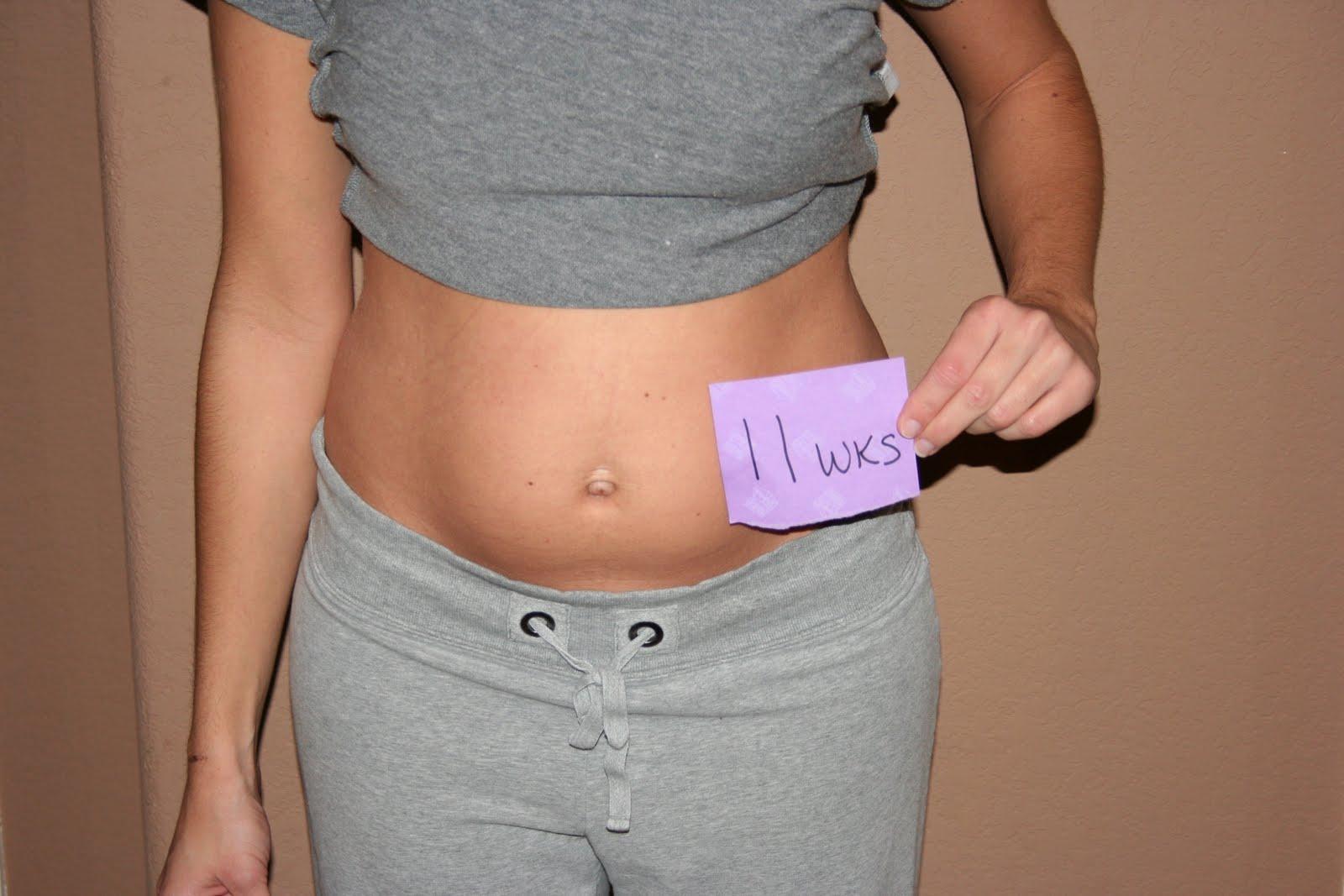 Какого размера живот у беременной 89