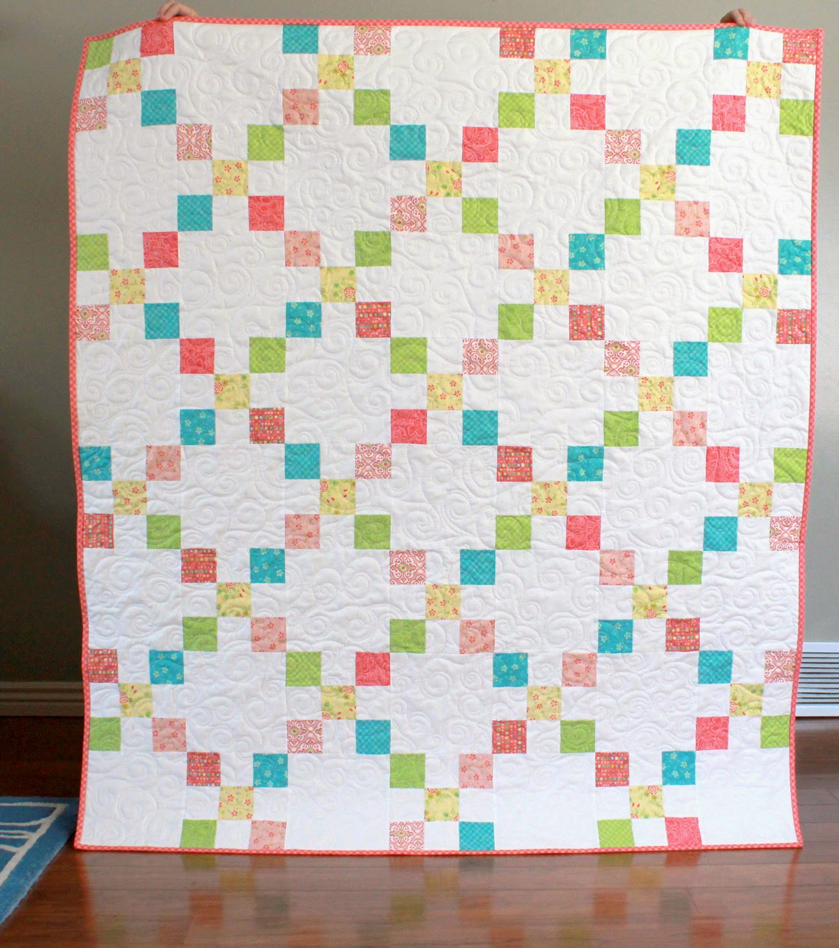 Chance of Flowers Irish Chain quilt