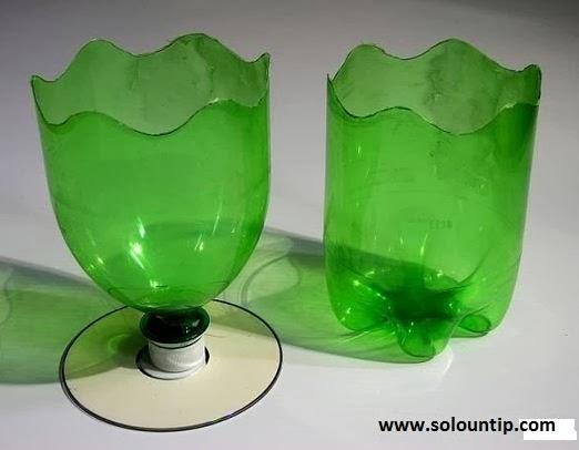 Bonitos maceteros con botellas de pl stico - Maceteros de plastico ...