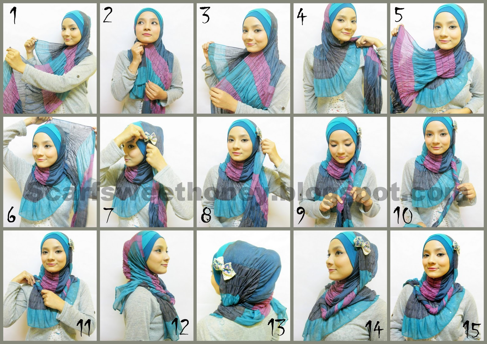 18 Tutorial Hijab Pashmina Ima Scarf Tutorial Hijab Terbaru