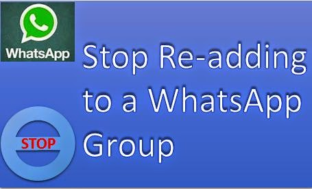 Prevent re-adding to a whatsapp group
