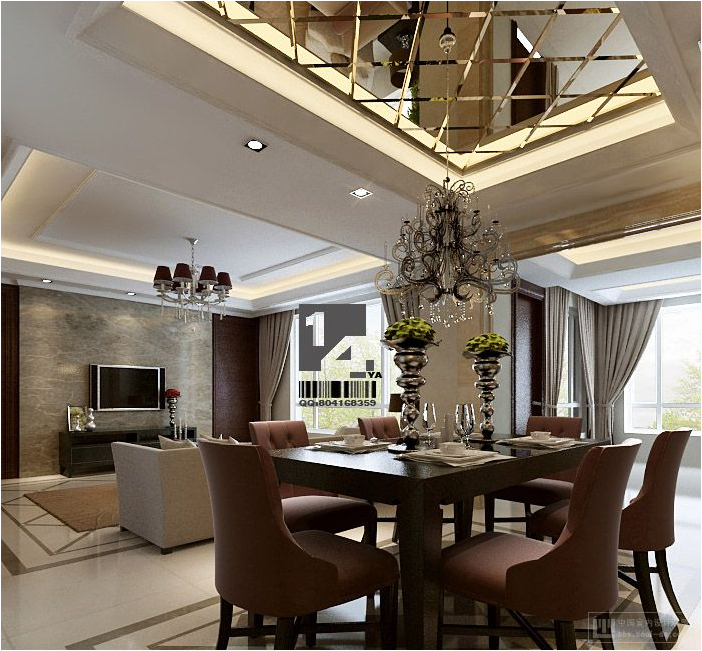 Modern dining room design ideas room design ideas for Living room and dining room design