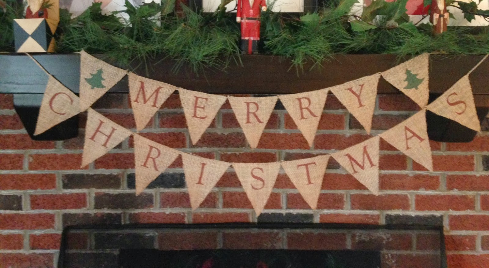 two it yourself easy printed merry christmas burlap banner - Merry Christmas Burlap Banner