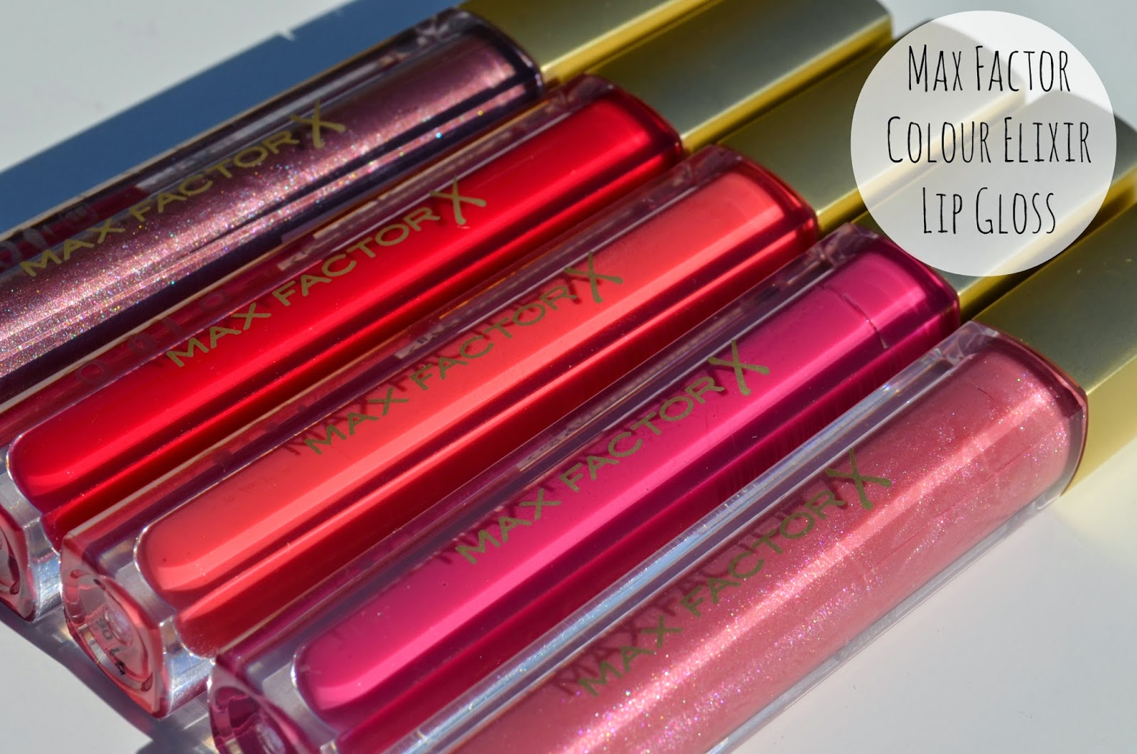 Max Factor Colour Elixir Gloss fluid range