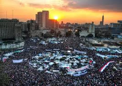 Tahrir square full of hope and courage