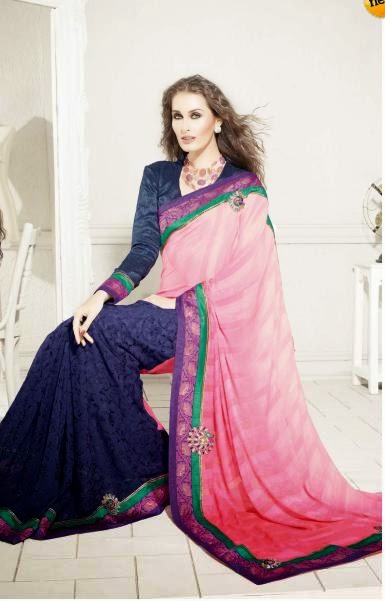 RMKV Embroidery Sari Designs