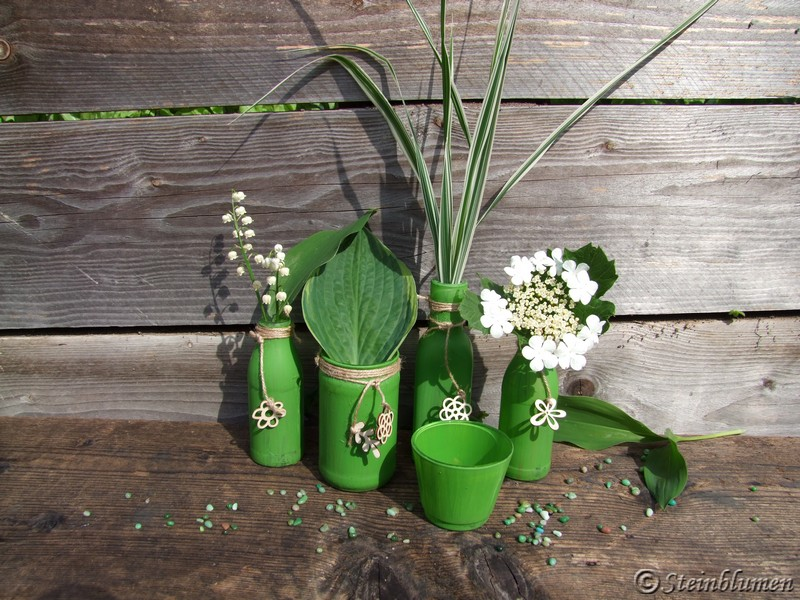 gruene Vasen Sammlung