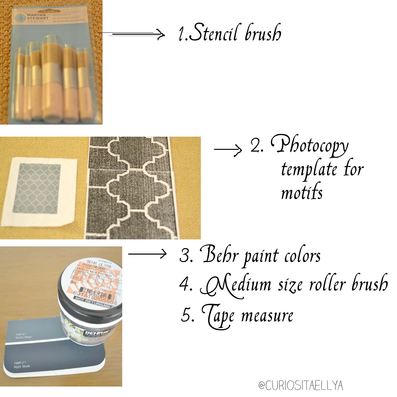 Curiositaellya: Painted Rug