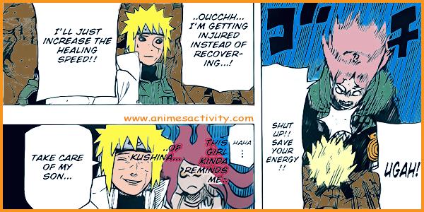 Minato with Sakura and Naruto in Naruto Manga 631