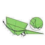 Origami Kadal Hijau
