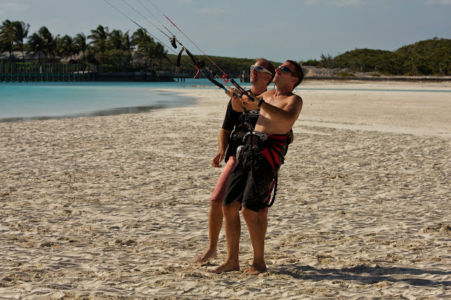 Learning kiteboarding