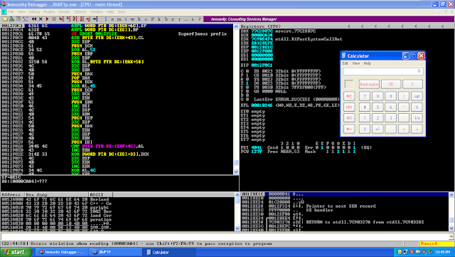 Jildi FTP Client (SEH) BOF