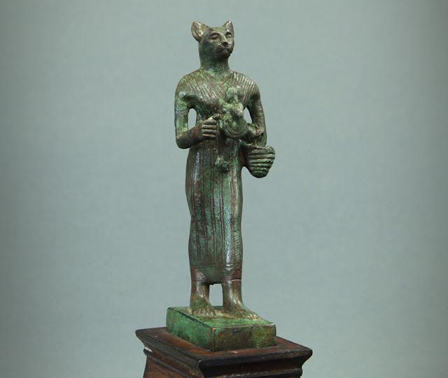 Bronze Figure of Egyptian Goddess Bastet