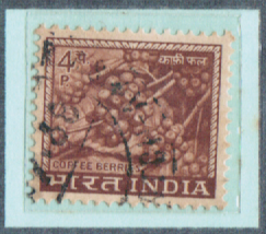 4P. INDIA, India Postage Stamps with watermarks
