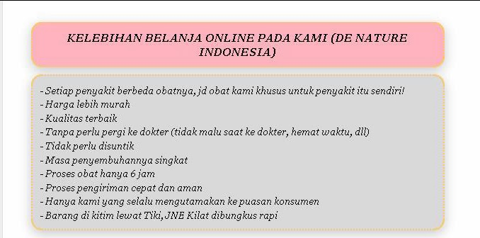 kelebihan berbelanja de nature indonesia