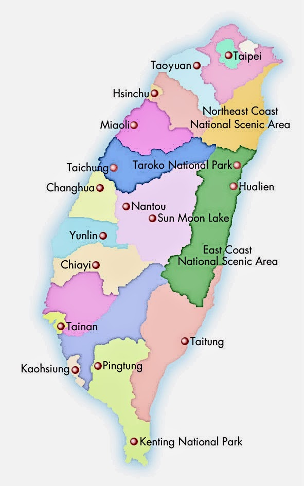 M A N D Y Taiwan Trip Going Around Taiwan – Taiwan Tourist Attractions Map
