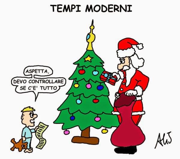 Natale, umorismo, vignetta