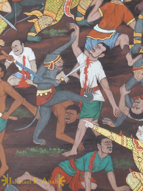 Ramakien in Bangkok Grand Palace: blood everywhere
