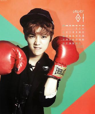 exo luhan calendar 2014