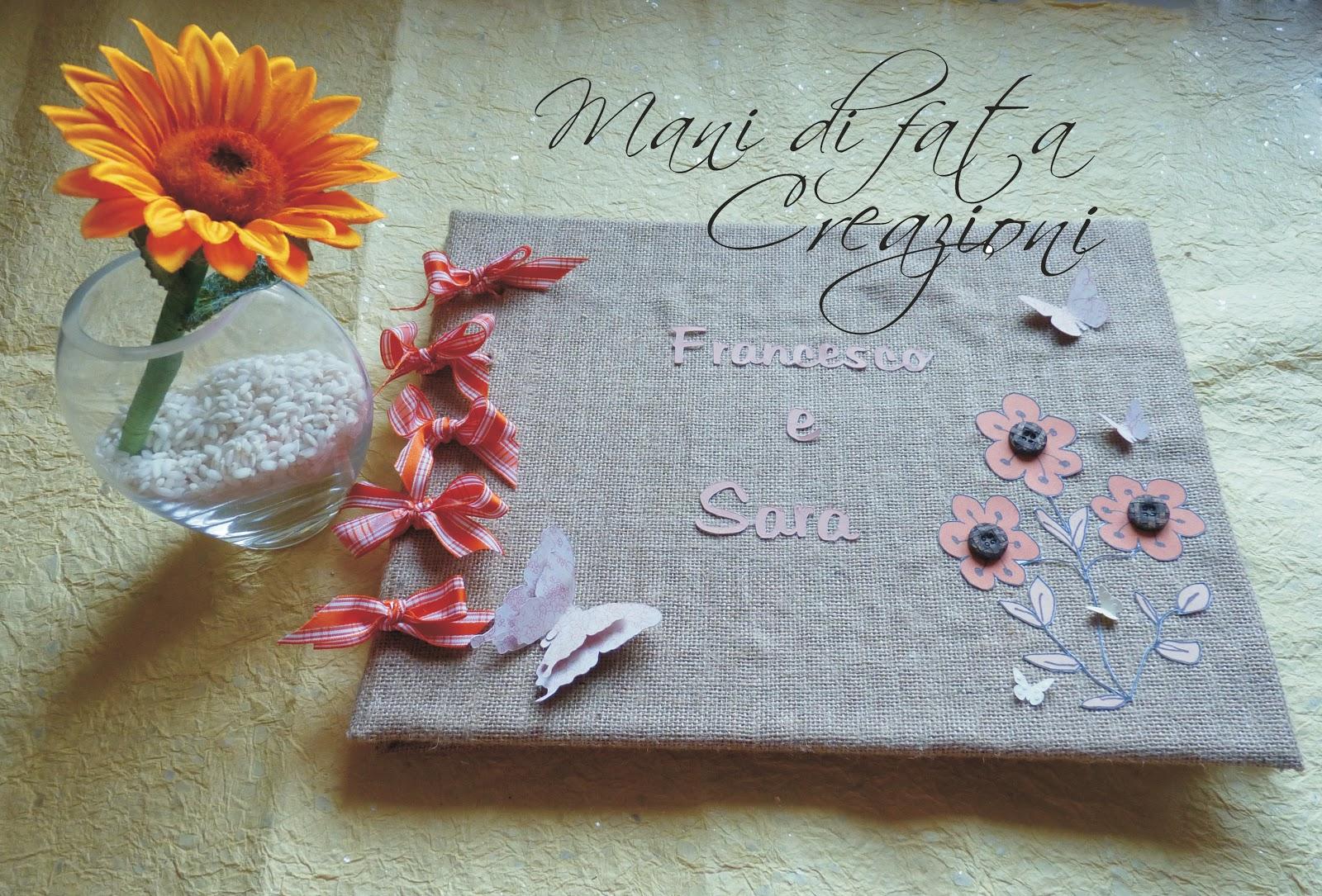 Guestbook Matrimonio Girasoli : Mani di fata creazioni guestbook matrimonio e penna rustico