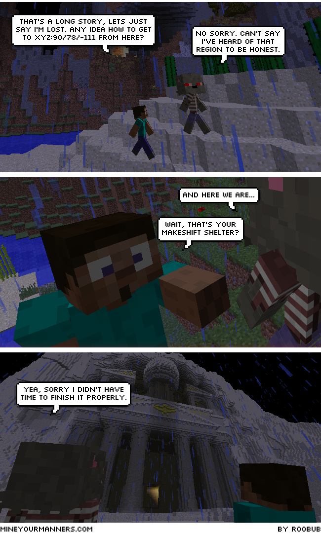 Minecraft Webcomic Serial